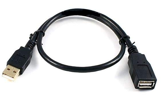 1.5FT USB Extension CABLE TYPE A-Male to TYPE A-Female Black