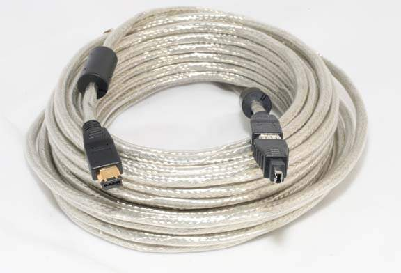 10 Meter FIREWIRE CABLE 6PIN 4PIN with Adapter