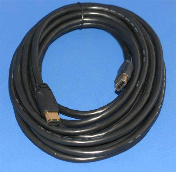 10FT BLACK Firewire Cable 6PIN 6PIN