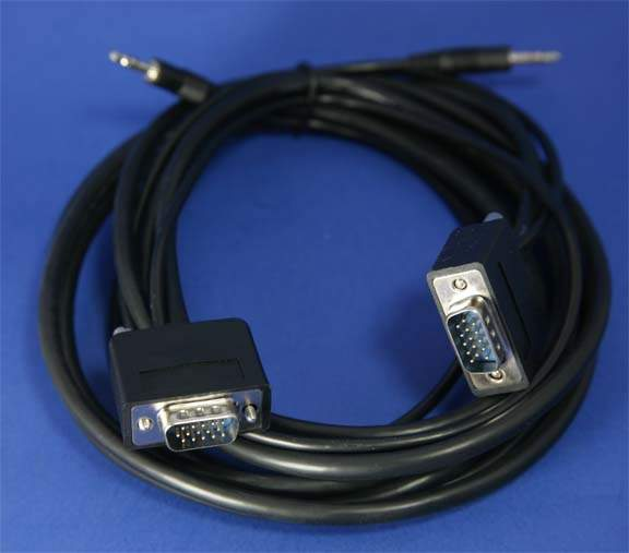 10FT SLIM SVGA Monitor Cable with Audio  Male to Male