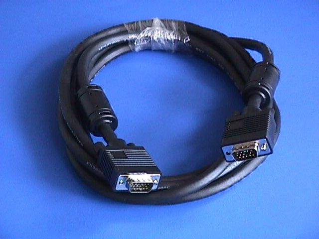 10FT SVGA CABLE MONITOR UL2919 HD15 Male to Male