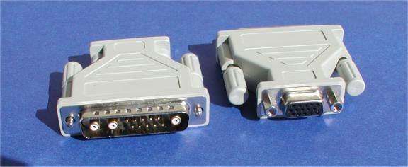 13W3-M TO VGA HD15-F SGI INDIGO INDY ONYX ADAPTER with Vertical and Horizontal Sync