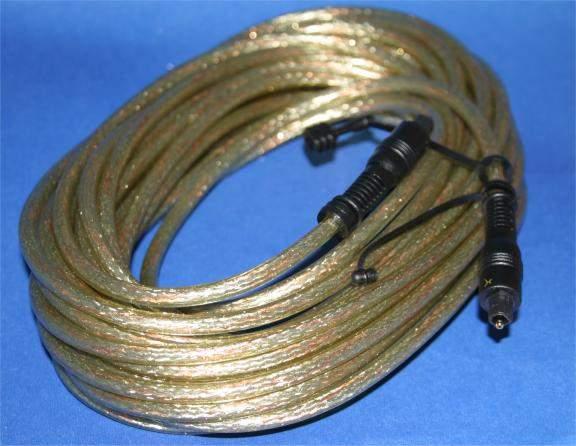 15 Meter DIGITAL OPTICAL Audio Cable TOSLINK PREMIUM