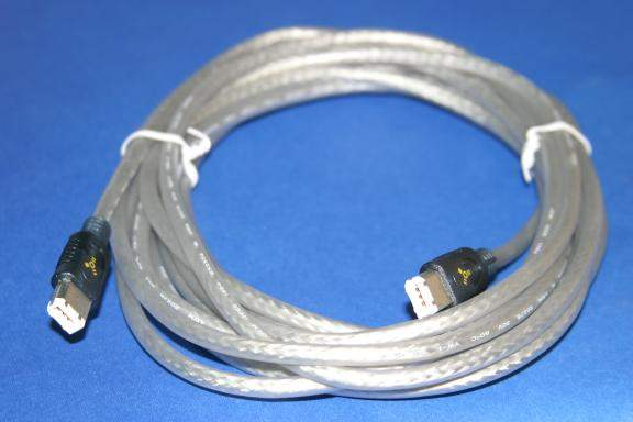 15FT FIREWIRE CABLE SILVER 6PIN 6PIN Special
