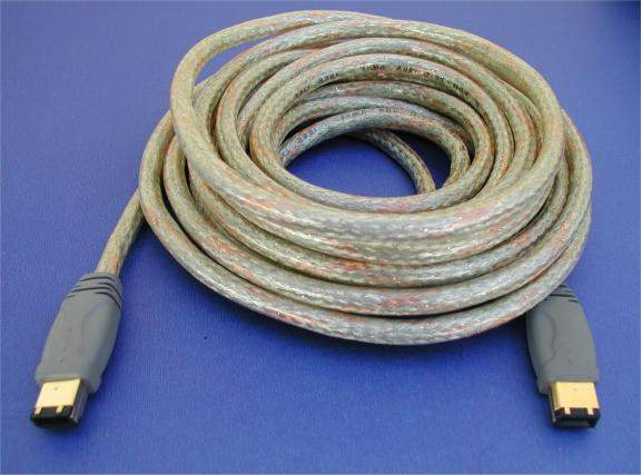 15FT Firewire Cable Gold 6PIN 6PIN