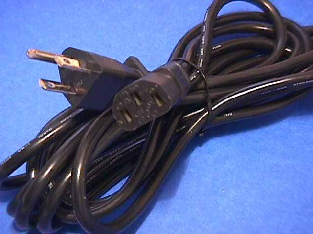 15FT Standard Power Cord Black