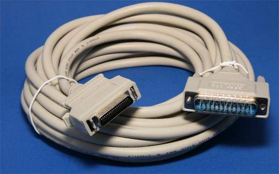 25FT Parallel Printer Cable IEEE-1284 A-C DB25M HPCN36M