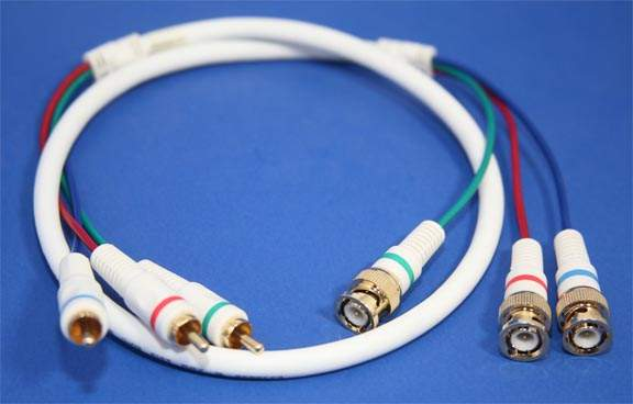 3-RCA to 3-BNC Component Cable Video 3Ft