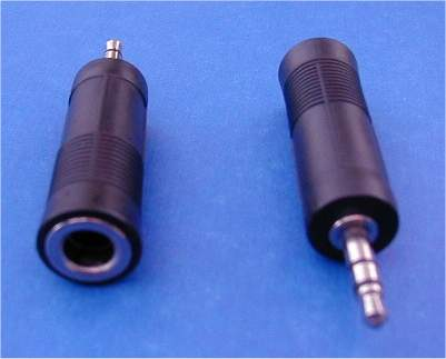 3.5mm 1/8 STEREO PLUG-M to 6.3mm 1/4 STEREO JACK-F Adapter