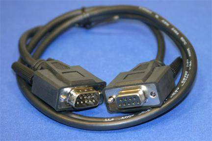3FT DB9M to DB9F SERIAL CABLE BLACK