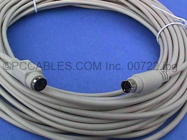 50FT KEYBOARD-MOUSE EXTENSION CABLE DIN6 Male to Female PS/2