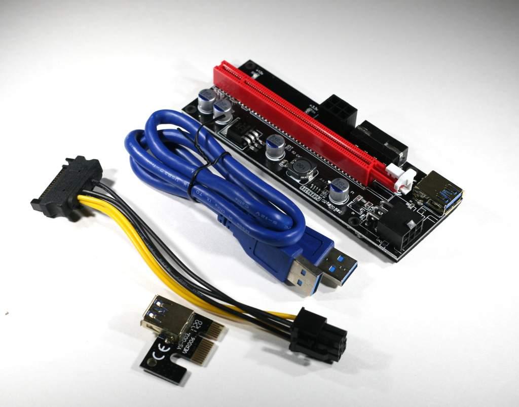 60cm VER009S PCI-E Riser Card PCIe 1x to 16x USB 3.0 Data Cable Bitcoin Mining