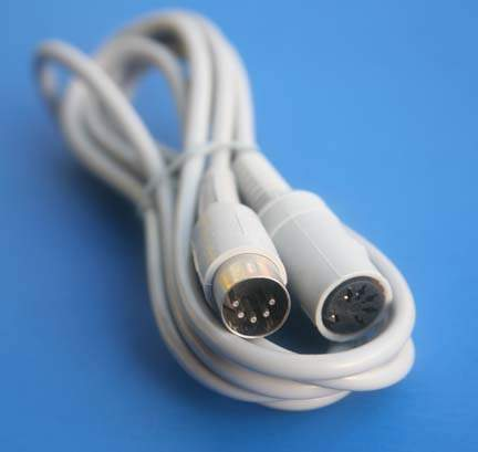 6FT MIDI EXTENSION CABLE DIN5 Male to Female GRAY Keyboard