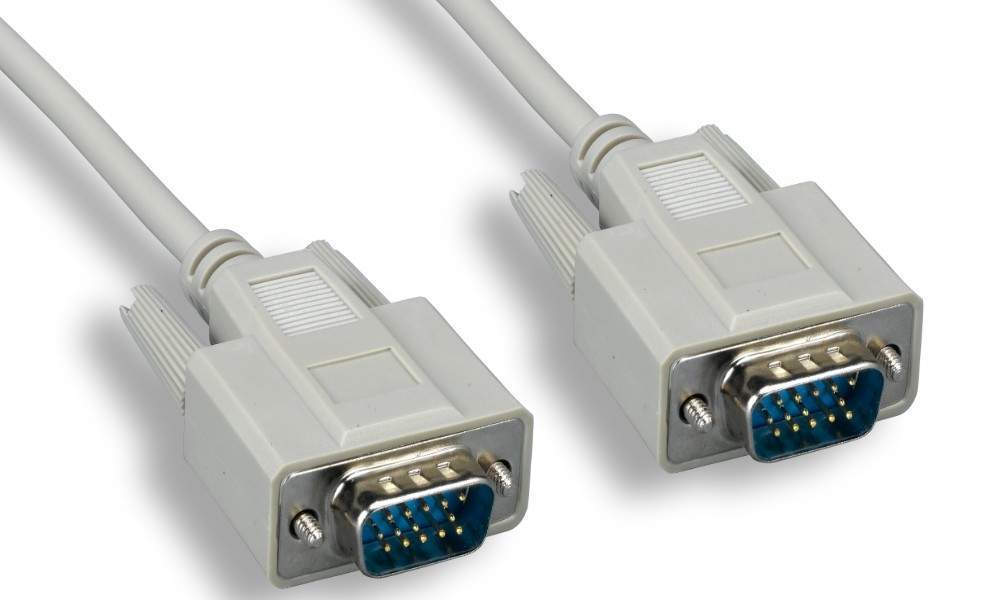 6FT VGA Monitor Cable HD15 Male to Male Beige