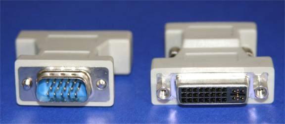 ANALOG DVI-A-F to VGA HD15-M Adapter