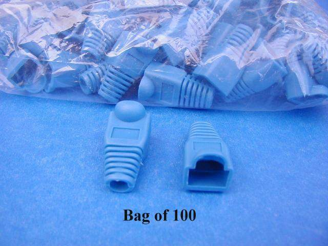BLUE SNAGLESS BOOT RJ45 (100 Pack)