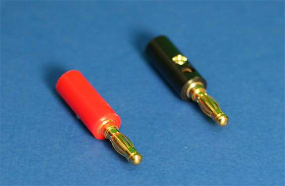 Banana Plug Set Red-Black Pair