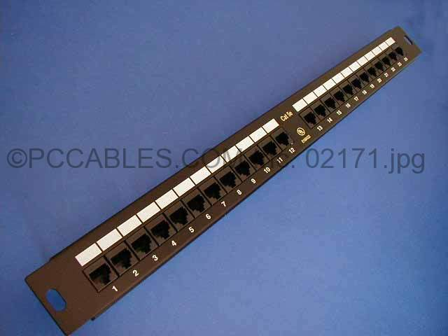 CAT5E PATCH PANELS 24 PORT 110 Punch Down RACK MOUNT