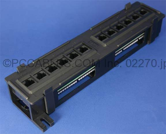 CAT6 PATCH PANELS 12 PORT 110 Punch Down WALL MOUNT