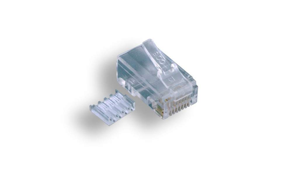 CAT6 RJ45 8P8C MODULAR PLUG CRIMPS for Stranded Round 100 Pack