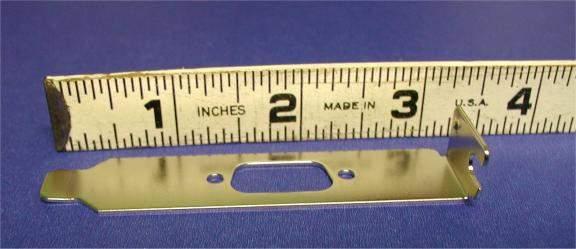 Case Slot DB9 Low-Profile 1U Small Cover Bracket