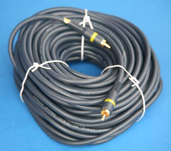 Composite Video 75FT Single RCA Cable