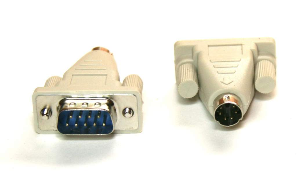 DB9-Male Mouse adapter to PS2-Male MiniDin 6 port
