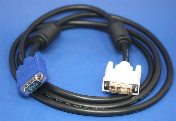 DVI-A HD15 VGA Cable Assembly 2 Meter 6.6ft ANALOG