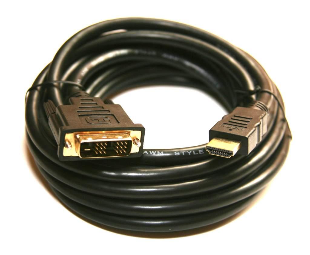 DVI HDMI Cable PREMIUM 5M 15FT