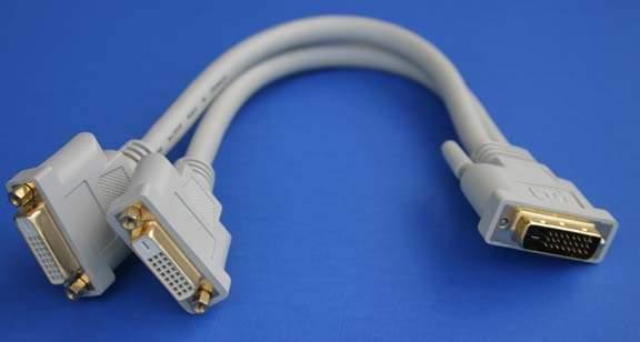 DVI Splitter Cable DVI-D Male to 2 Female