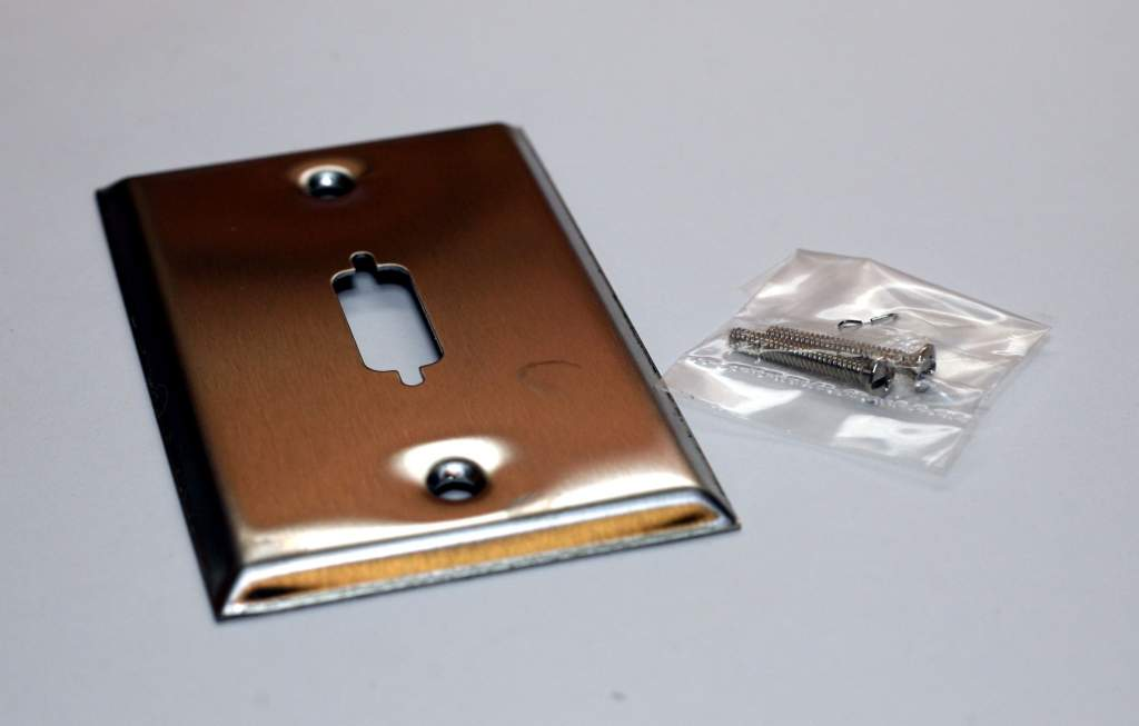 DVI Wall Plate 1-Hole Stainless