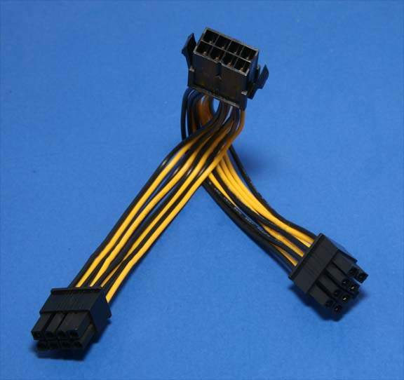 EPS-12V 8-PIN Power Cable Splitter Cable 6 Inch