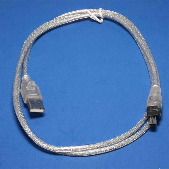 Firewire to USB Cable 6ft Silver
