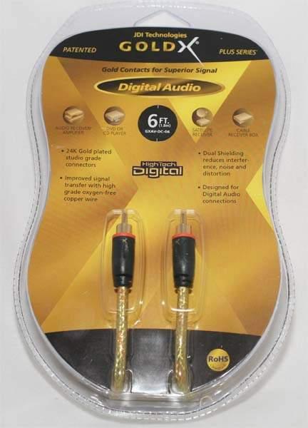 GoldX Digital Audio High Performance Digital 6 ft Cable NEW