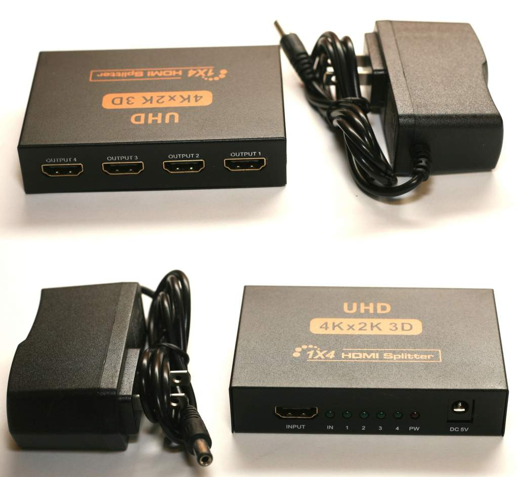 HDMI 1X4 Distribution Amplifier with 3D 4K