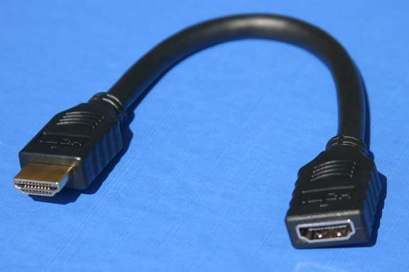 HDMI 8 inch Port Saver Cable Male to Female Extension