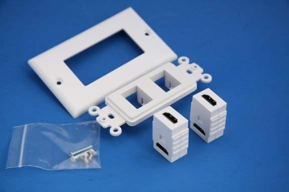 HDMI WALL PLATE 2-PORT Decora-White