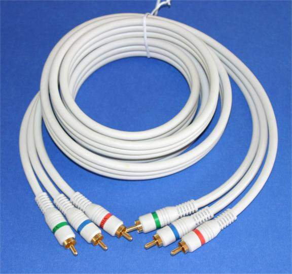 HDTV COMPONENT VIDEO DIGITAL TV TRIPLE RCA SHIELDED 6FT