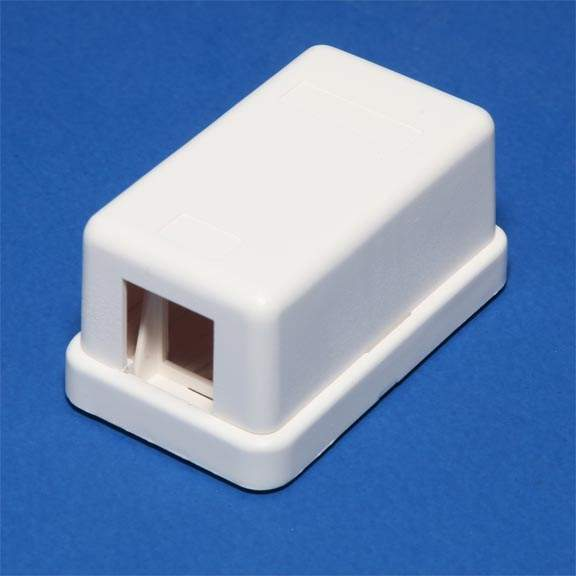 KEYSTONE JACK SURFACE MOUNT BOX 1 HOLE White