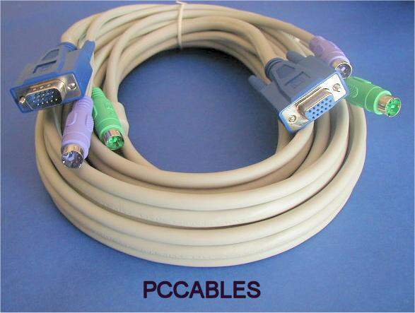 KVM Cable 10FT Video Male to Female