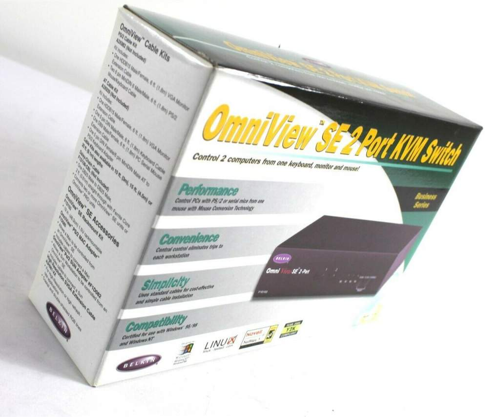 KVM Switch 2-CPU Electronic PS2-VGA Belkin F1D102