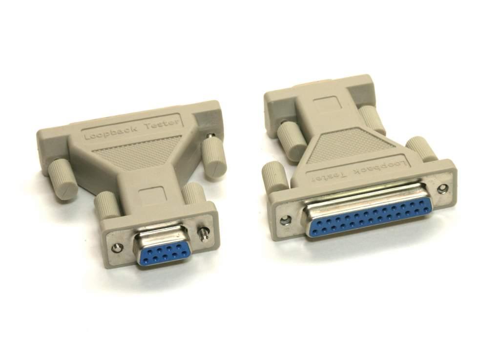Loopback Tester Plug Serial DB25 DB9