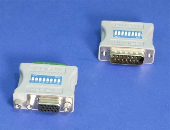 MAC SYSTEM DB15-M TO HD15-F VGA 8-SWITCH ADAPTER