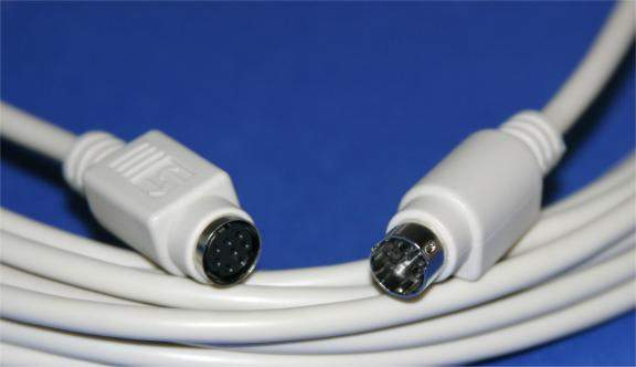 MINI DIN8 CABLE Male to Female 25FT Extension