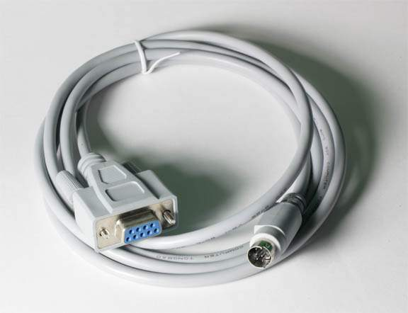 MINI DIN8 M to DB9F 6FT CABLE