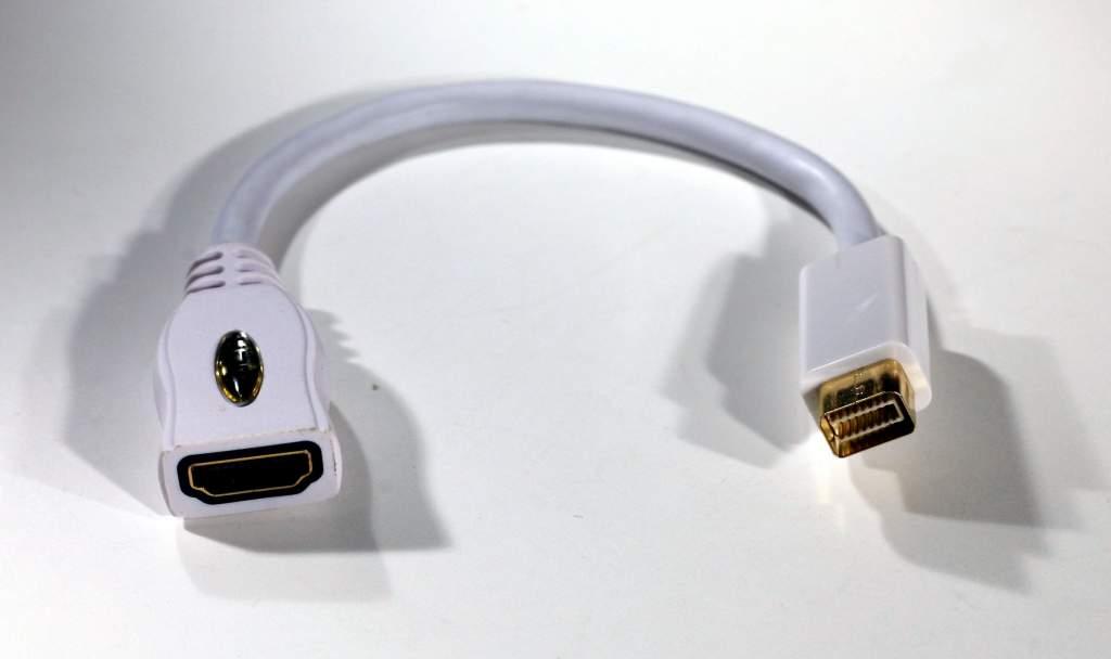 Mini DVI Male to HDMI Female Video Adapter Cable AD-MDVI-HDMI - Gold Plated