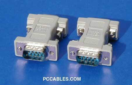 NULL MODEM ADAPTER DB9 Male to Male