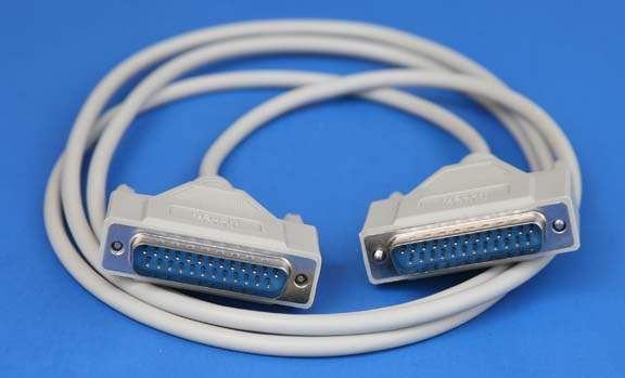 NULL MODEM Cable 6FT DB25-M M