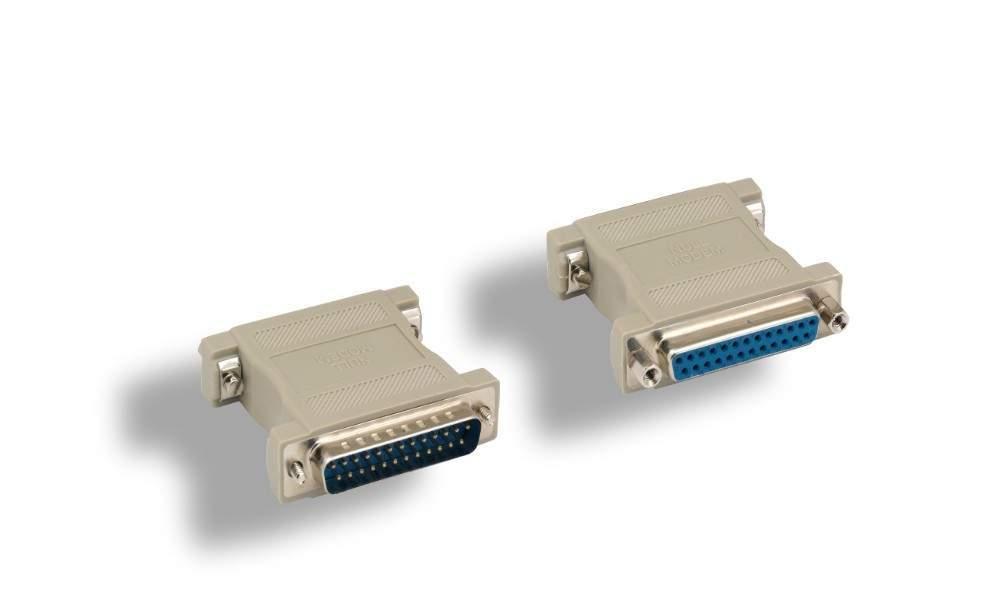 Null Modem Adapter DB25F to DB25M