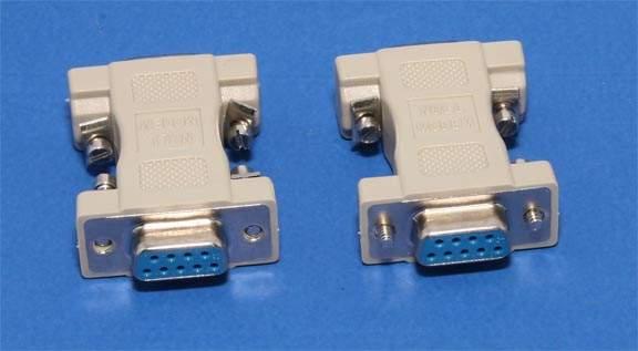 Null Modem Adapter DB9F to DB9F